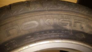 Subaru 205/55/16 tires on rims