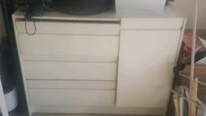 White chest/dresser and wardrobe