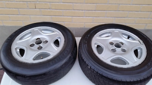 "Pair of Original Volkswagen Golf 14"" Mags Rims"