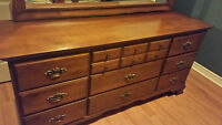 Solid Maple Wood, Canadian Made Dresser /w Mirror