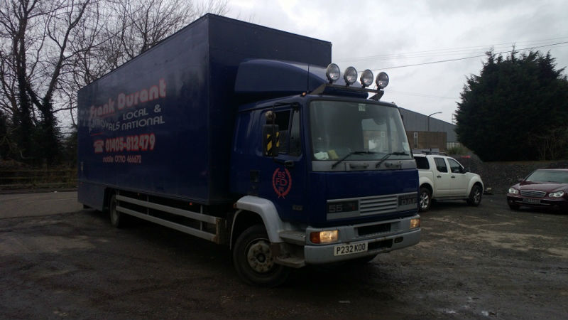 DAF 55 ATI 13 TON GROSS BOX STEEL