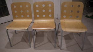 3 Excellent Cond. Ikea Jules Chairs in Birch