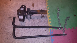 Trailer hitch with sway bars