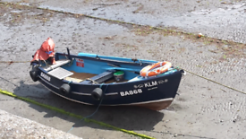 Yorkshire pebble fishing boat