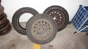 4-185/65 r14 winter tires, assorted