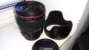 Canon 35mm F/1.4 L MK I with hood(EW-78C)