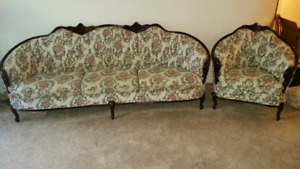 French provincial  sofa and chair.mint condition  $400 .