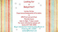 Are You Looking for a Babysitter......?