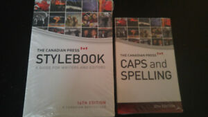 'Canadian Press Style book' and 'Caps and Spelling' for sale new