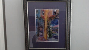 2 framed prints by B.C. artist Jill Louise Campbell