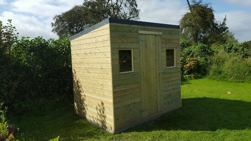 8 x 6 foot shed, one door two windows on long side