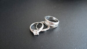 Peoples Wedding/Engagement Set 1.5 Carat+Band+Mens! $6900 Value!