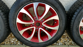 Nissan Juke alloy wheels, fitted with winter tyres