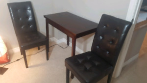 Set of table and two chairs