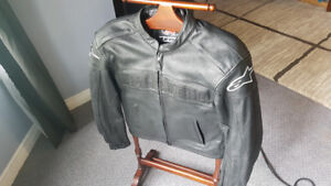 Like New Alpine Stars Leather Motorcycle Jacket Size S