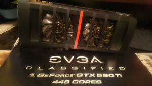 EVGA Classified GTX 560 Ti 448 Cores 1.2GB GDDR5 Graphics Card