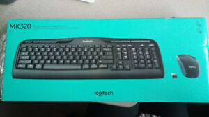 Like New Logitech MK320 Wireless Combo with Media Shortcut Keys