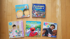 5 children's books including Elmo, disney, scholastic books