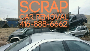 FREE SCRAP CAR REMOVAL FOR VEHICLE SHELL. BEST PRICE FOR SCRAP!