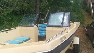 1980 Silverline Tri Hull with 85HP Johnson Outboard