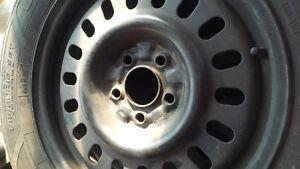 winter tires on steel wheels Cambridge Kitchener Area image 4