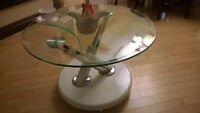 collapsible glass coffee table   New