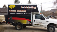 Sandblasting Sodablasting / Painting and Staining
