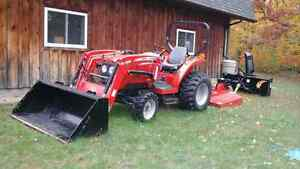 Massey  Ferguson  tractor  and implements