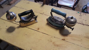 antique gas clothes irons (including Coleman)