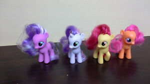 "set of 4 My Little Pony 2 1/2"" includes Scootaloo & SweetieBelle"