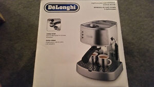 Selling unopened Delonghi cappuccino and espress coffee maker