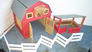 Child's Wooden Red Barn