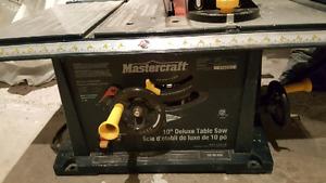 Mastercraft 10 inch table saw 15 amp