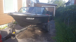 14 foot boat with 35 HP outboard