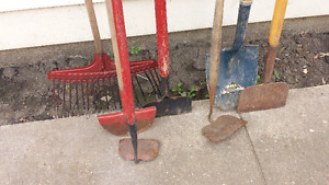 Outdoor yard and garden tools