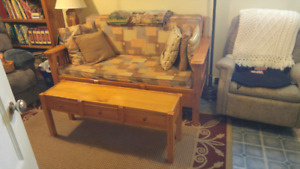 Homemade couch and coffee table