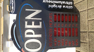 Open sign with hours of operation- programmable Kitchener / Waterloo Kitchener Area image 2
