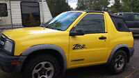 2002 Chevrolet Tracker ZR2 soft top