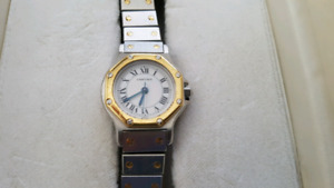 Authentic Cartier Santos 18kt Automatic Watch