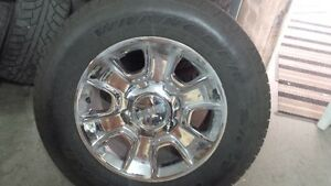 "GMC 18"" 6 BOLT RIMS AND TIRES"