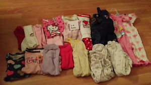 3-6 month girls winter lot of clothing