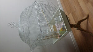 BEAUTIFUL  SCROLLED  BIRD CAGE FOR SALE