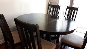 dining table and six chairs sale