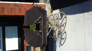 Vintage double baby carriage