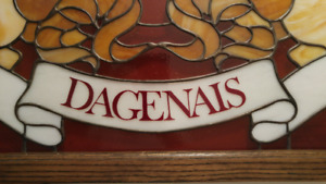 Dagenais Stained Glass Family Crest