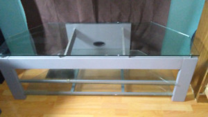 Tv stand with glass