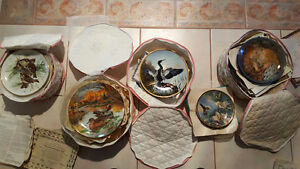 Beautiful Hand-Painted Ltd. Ed. Fine China Plates (37pcs)-$Red'd