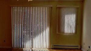 Ensemble Stores verticaux porte patio et fenêtre