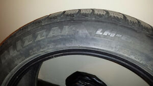Four Used Bridgestone Tires 225/50R18 95H