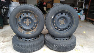 4 × P195/65R15 Winter Tires with Rims